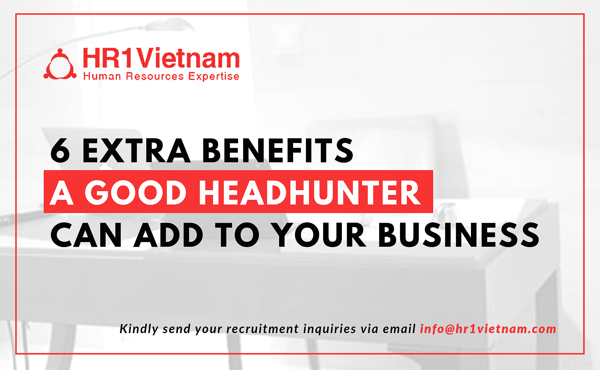 Beyond the demand to fill a vacancy, there are some additional reasons where a headhunter can be a valuable resource in your search for a job candidate.